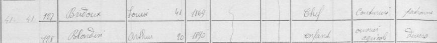 blondin pende recensement 1911b