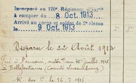 cuvillier mort 22 aout 1914