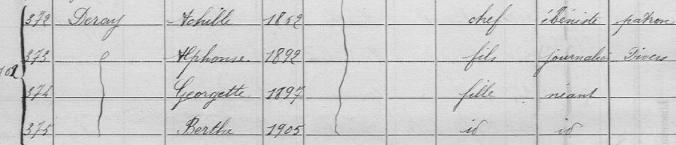 deray huchenneville recensement 1911
