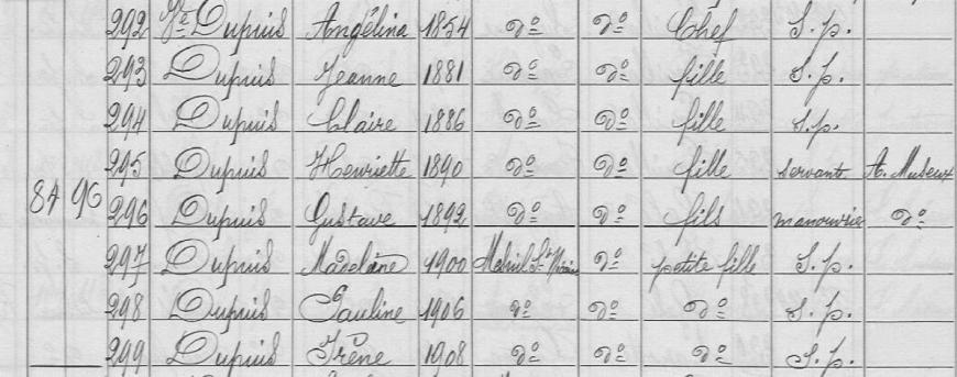 marquaix dupuis recensement 1911