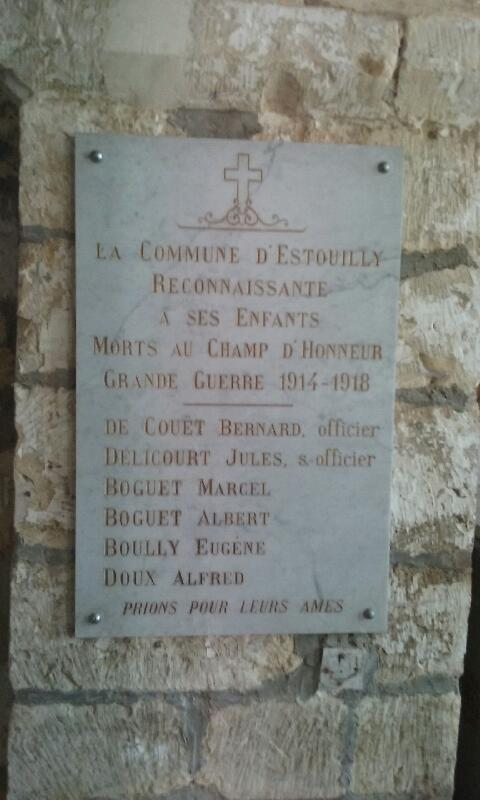 plaque eglise estouilly boguet