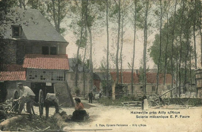 CPA Chaussoy-Epagny Hainneville Scierie E. P. Faure