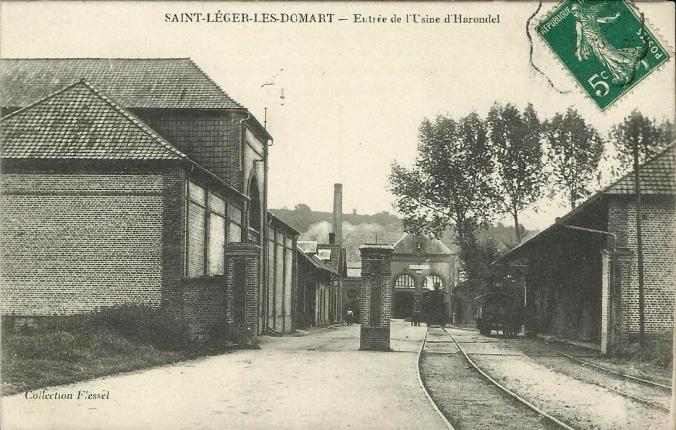 CPA St-Léger-les-Domart Entrée de l'Usine d'Harondel