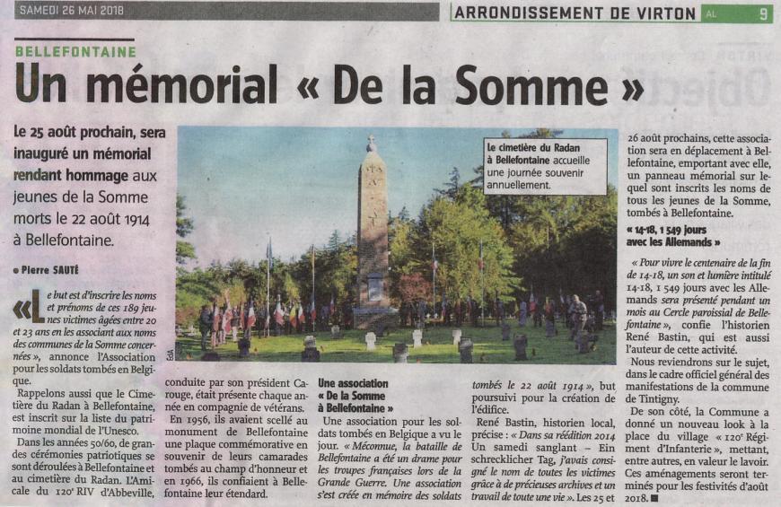 article avenir belgique memorial