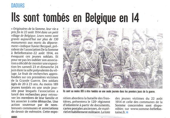 Le Courrier Picard - 28/05