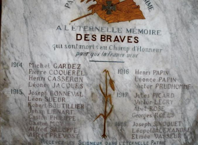 plaque eglise fontaine