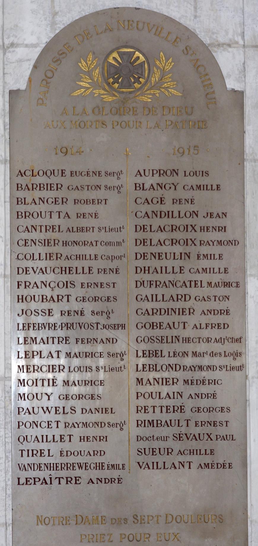 PONCET Raymond Eglise St-Acheul plaque commémorative 1
