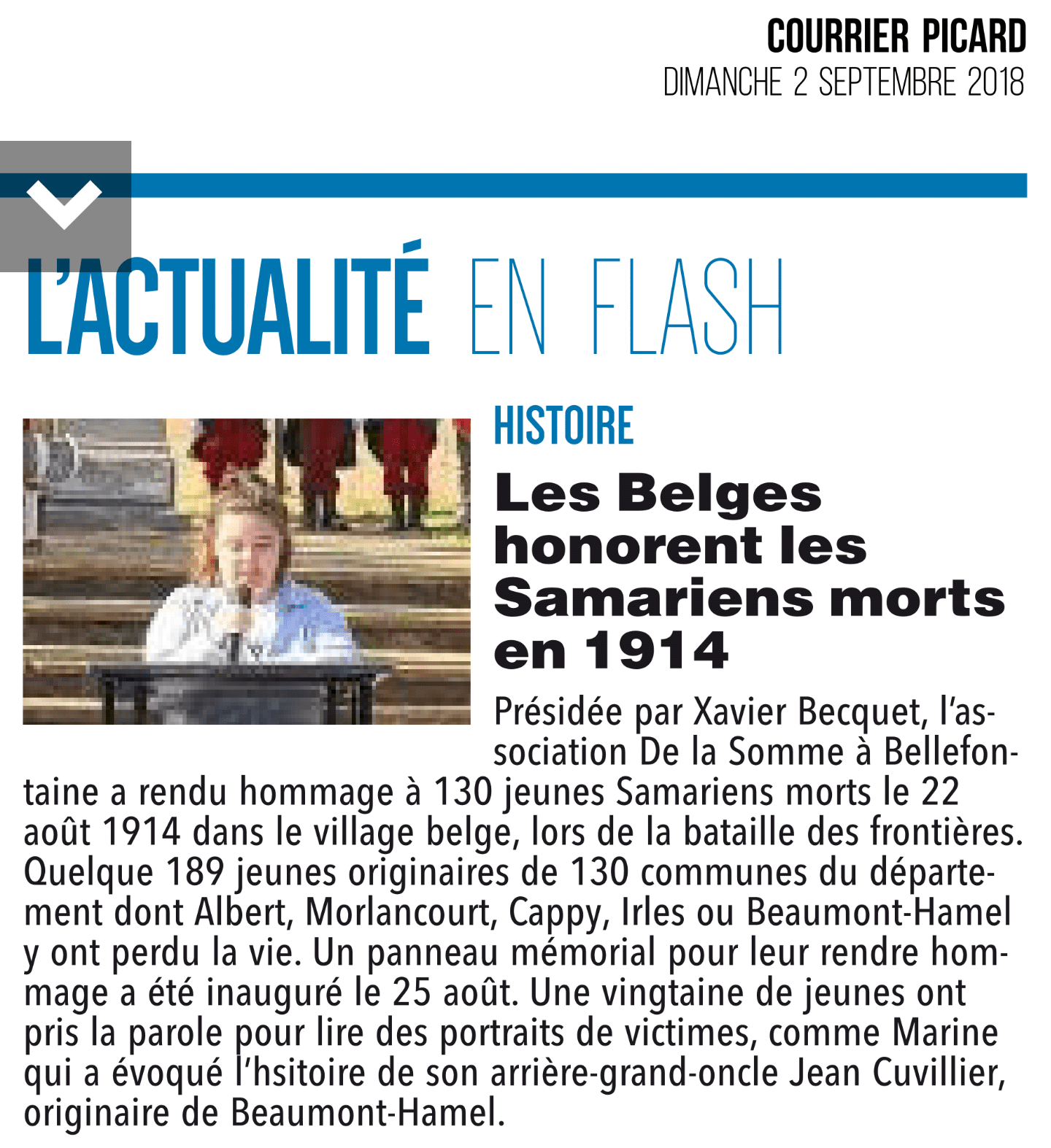 Courrier Picard Somme 2 septembre