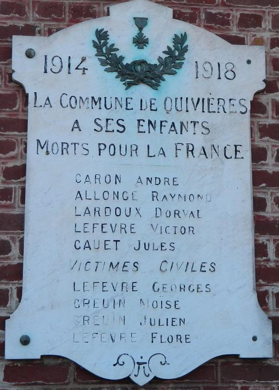 caron quivieres plaque commemorative