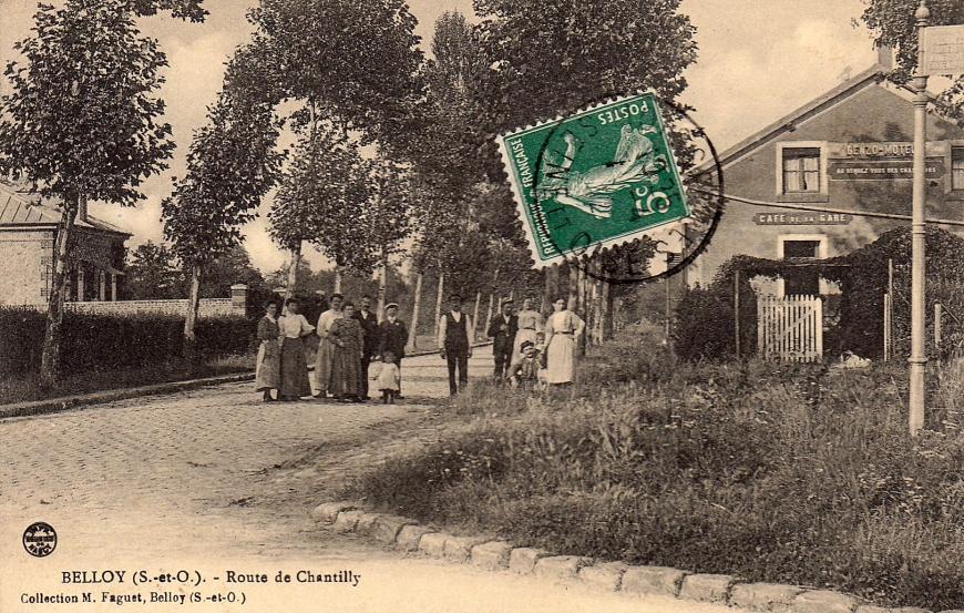 Belloy-en-F Maison-Neuve Cafe de la Gare Lieu de naissance de Pechon Danielle