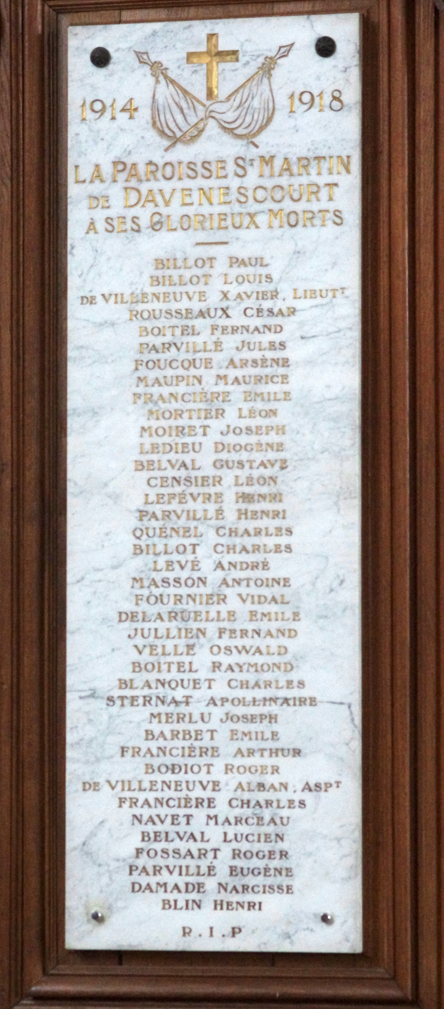 Davenescourt-plaque eglise