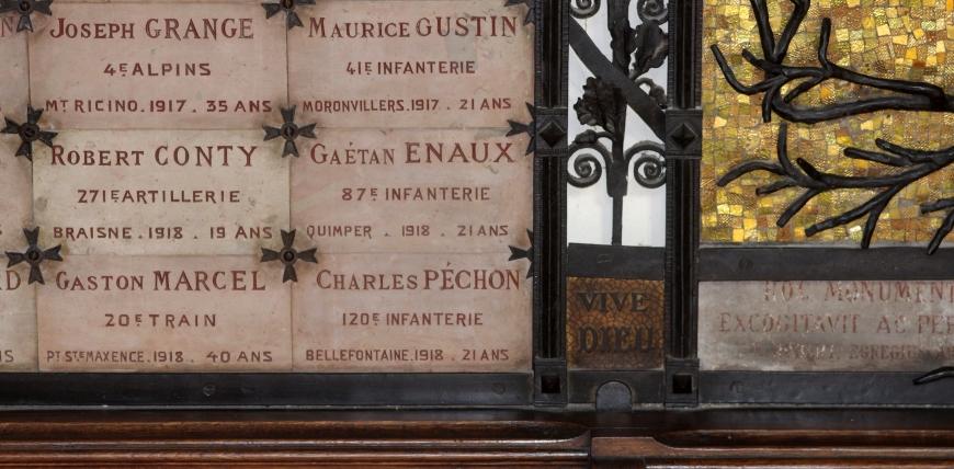 Enghien les Bains Plaque commemorative Eglise detail