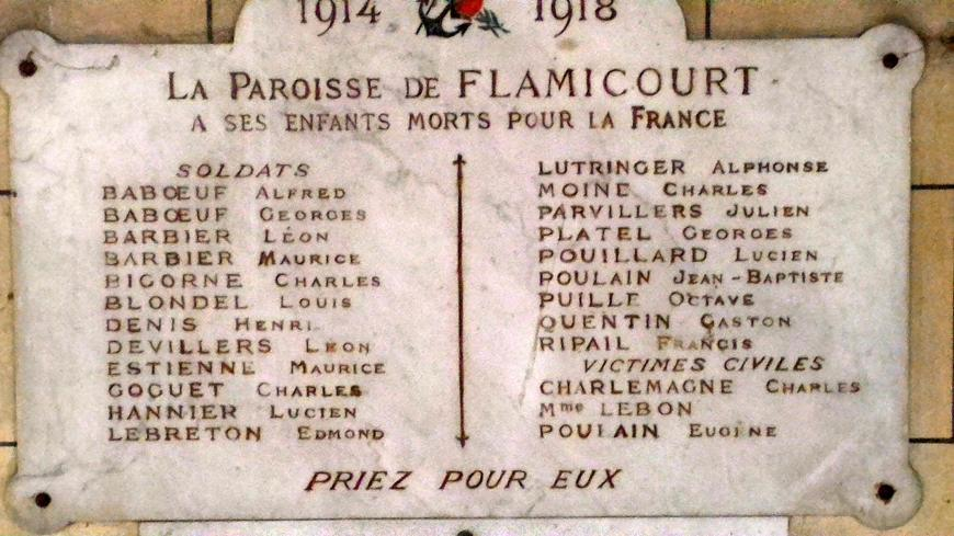 Flamicourt-plaque