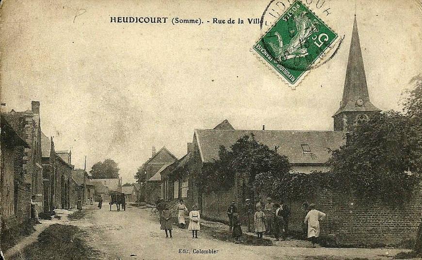 Heudicourt Rue de la Ville