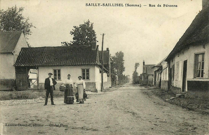 sailly-saillisel carrefour route de peronne et moislains