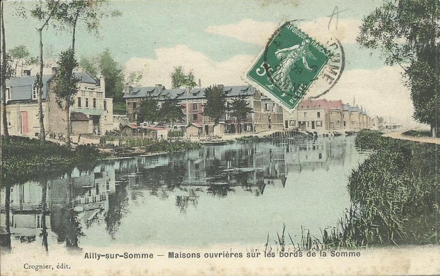 Ailly-sur-Somme Maisons ouvrieres sur les bords de la Somme