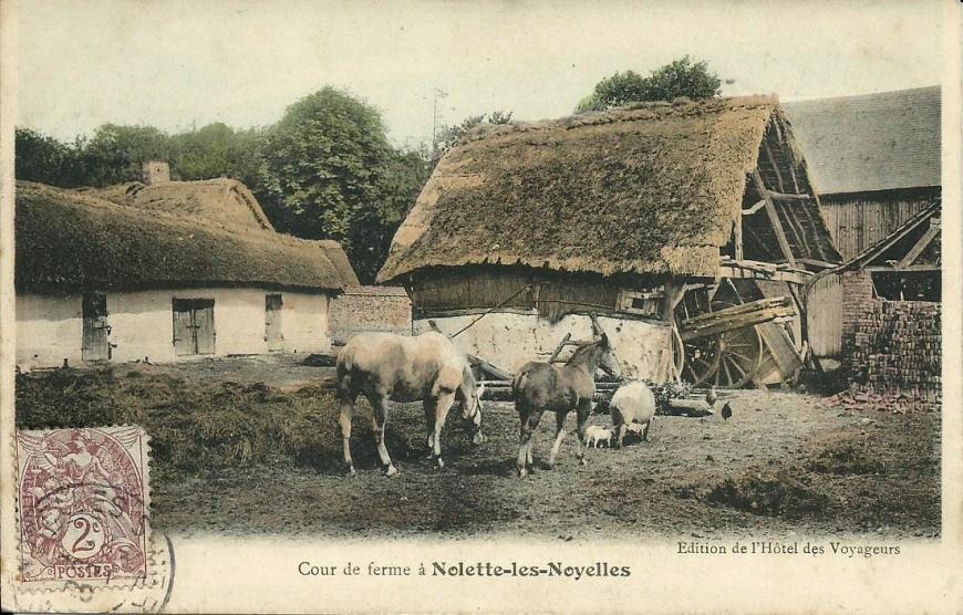 Nolette (hameau de Noyelles-sur-Mer) cour de ferme