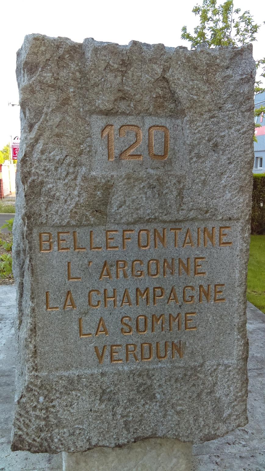 monument du 120e RI à stenay